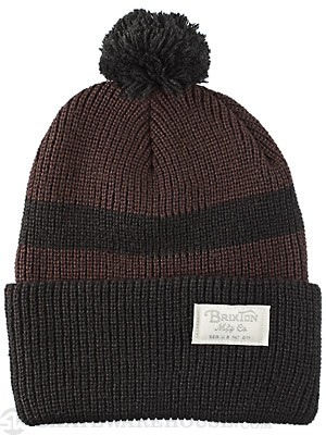 Brixton Hudson Pom Beanie Brown/Black