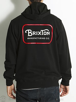 Brixton Harrison Hoodzip Black MD