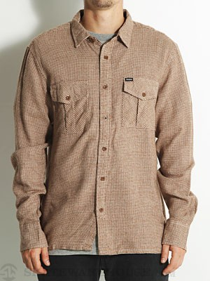 Brixton Hoxton Flannel Shirt Brown/Cream XXL