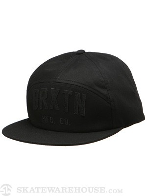 Brixton Ike 7-Panel Cap Hat Black/Black Adjust
