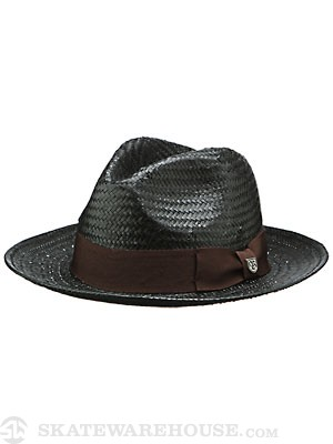 Brixton Jasper Fedora Hat Black/Brown SM