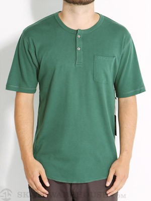 Brixton James Henley Shirt Hunter Green XL
