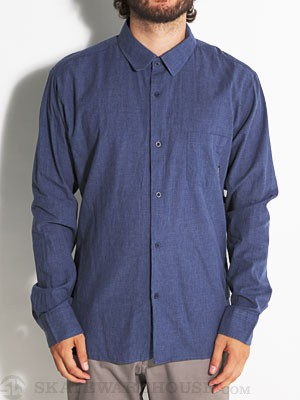 Brixton Kingston Woven Shirt Blue LG