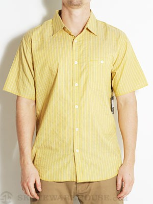 Brixton Leech Custom Woven Shirt Yellow LG