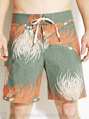 Brixton Leeward Boardshorts Green/Rust 28