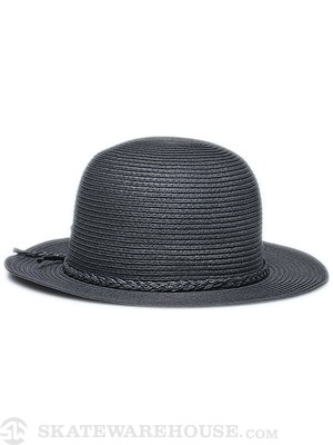 Brixton Louella Girl's Hat Black Straw MD