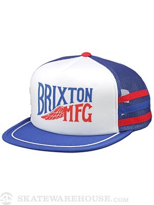 Brixton Lorry Mesh Cap Hat Wht/Royal Blue Adj.