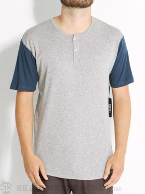Brixton Lewis Henley Heather Grey/Royal XL