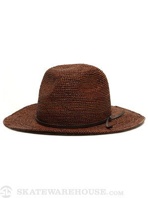 Brixton Marlowe Girl's Hat Brown Straw SM