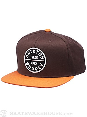 Brixton Oath III Hat Brown/Orange Adj.