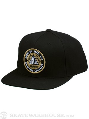 Brixton Pledge Snapback Hat Black Adj.