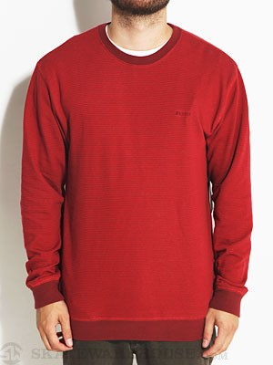 Brixton Partisan Crew Sweatshirt Red MD