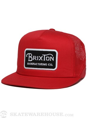 Brixton Route Hat Red Adj.