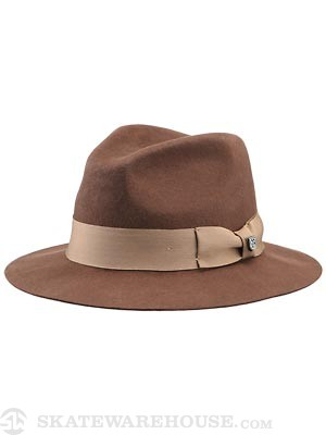 Brixton Ranch Fedora Hat Brown/Cream SM