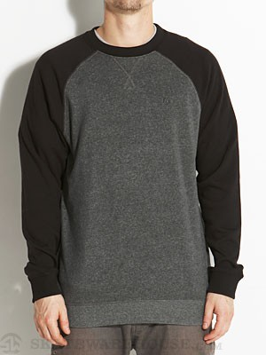 Brixton Smith Crew Sweatshirt Charcoal/Black SM