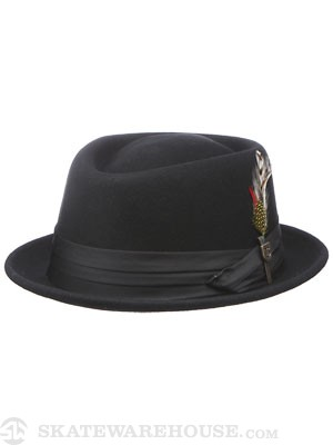 Brixton Stout Pork Pie Fedora Black SM