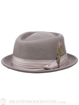 Brixton Stout Pork Pie Fedora Grey MD