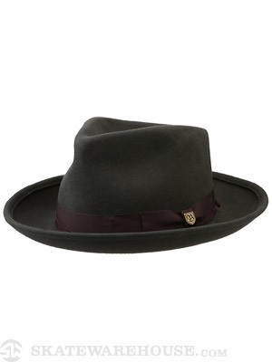 Brixton Swindle Fedora Hat Charcoal/Brown SM