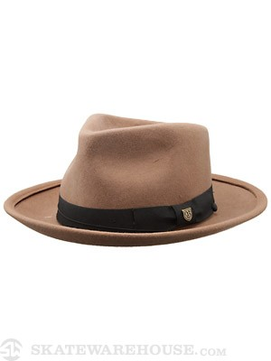 Brixton Swindle Fedora Hat Pecan MD
