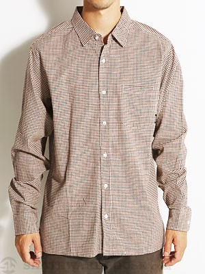Brixton Trust L/S Woven Shirt Brown/Cream SM