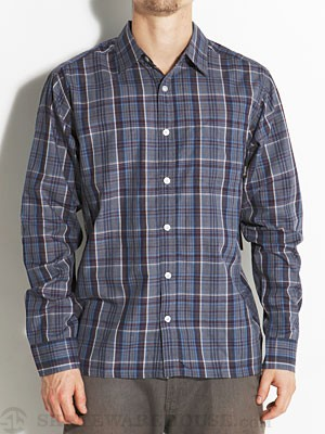 Brixton Trust L/S Woven Shirt Navy/Cream MD
