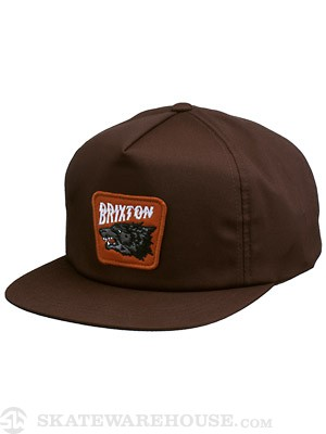 Brixton Tex Snapback Hat Brown Adj.