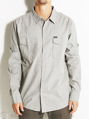 Brixton Davis L/S Woven Shirt Heather Grey SM
