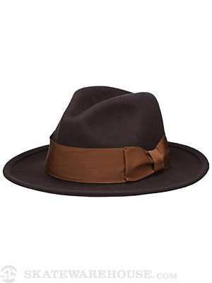 Brixton Woodrow Fedora Hat Brown/Copper MD