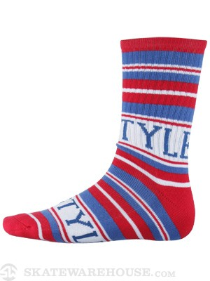 Bro Style Home Team Stripe Sock Red/Blue