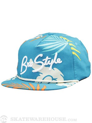 Bro Style Tropic Print 5 Panel Hat Blue