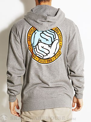 Bro Style Ying Yang Hoodzip Heather Grey MD