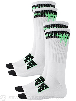 Creature Coxsockie Socks 2 Pack White