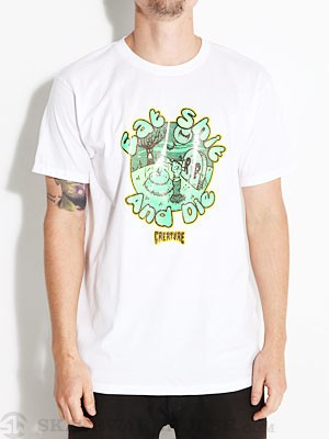 Creature Eat Shit Tee White MD