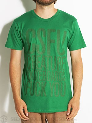 Creature FU Tonal Tee Kelly Green SM