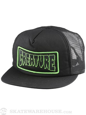 Creature Patch Mesh Hat Black Adj.