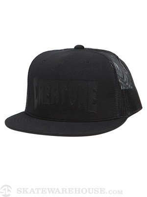 Creature Logo Stamp Mesh Hat Black Adjust