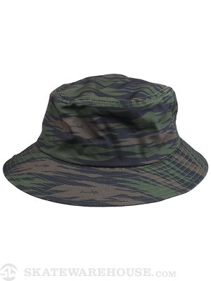 Chocolate Camo Bucket Hat Black One Size