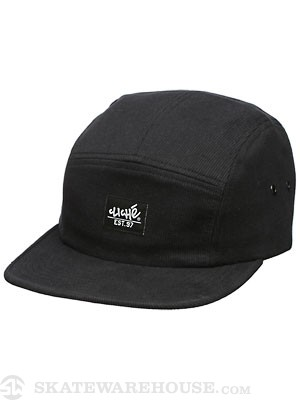 Cliche Cord 5 Panel Hat Black One Size