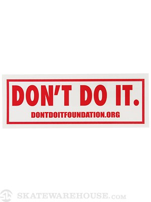 Consolidated Don't Do It Foundation Sticker Red
