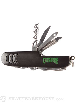 Creature Logo Army Knife  Black