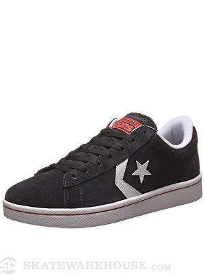 Converse Pro Leather Skate Ox Shoes Black/White/Red