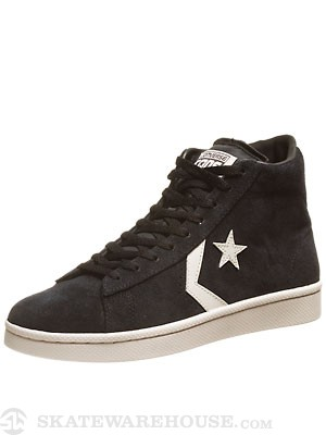 Converse Pro Leather S Mid Shoes  Phantom/Parchment