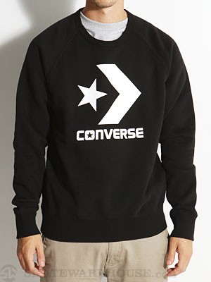 Converse Cons Star Chevron Sweatshirt Black MD