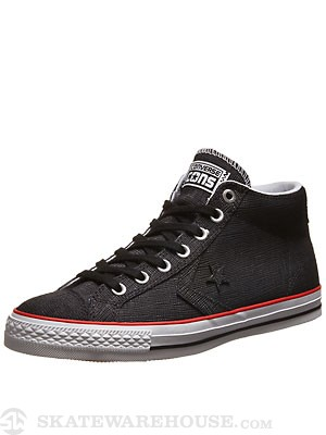 Converse Star Player Skate Mid Shoes Black/Red/White