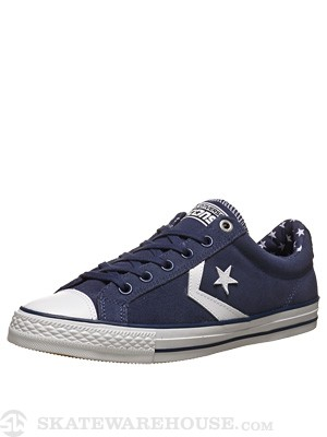 Converse Star Player Skate Ox Shoes Ensign Blue/White