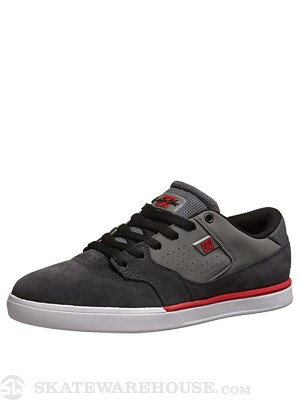 DC Cole Lite Shoes Grey/Grey/Red