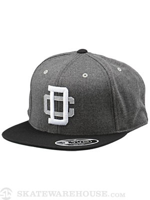 DC Crestliner Snap Back Hat Black Adjust