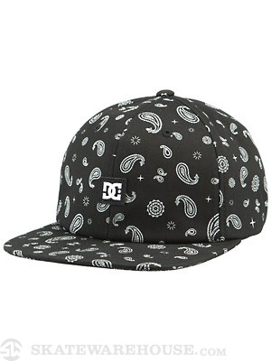 DC Pays Lee Snapback Hat Black Adj.