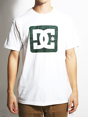 DC Square Stars Tee White/Green SM