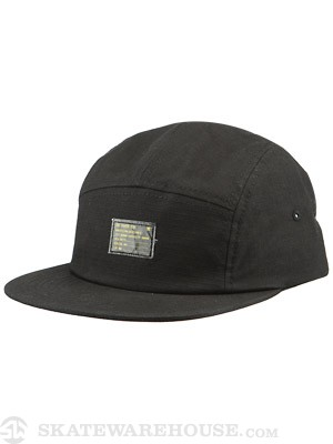 DC Swelby 5 Panel Camp Hat Black Adj.